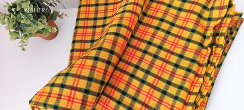 African Maasai Shuka yellow checked naheri accessories
