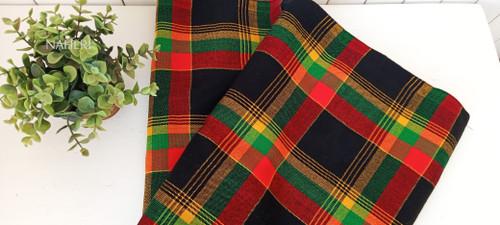 African Maasai Shuka black checked naheri accessories