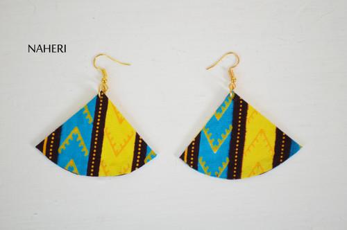 African earrings fan shape dashiki jewelry naheri