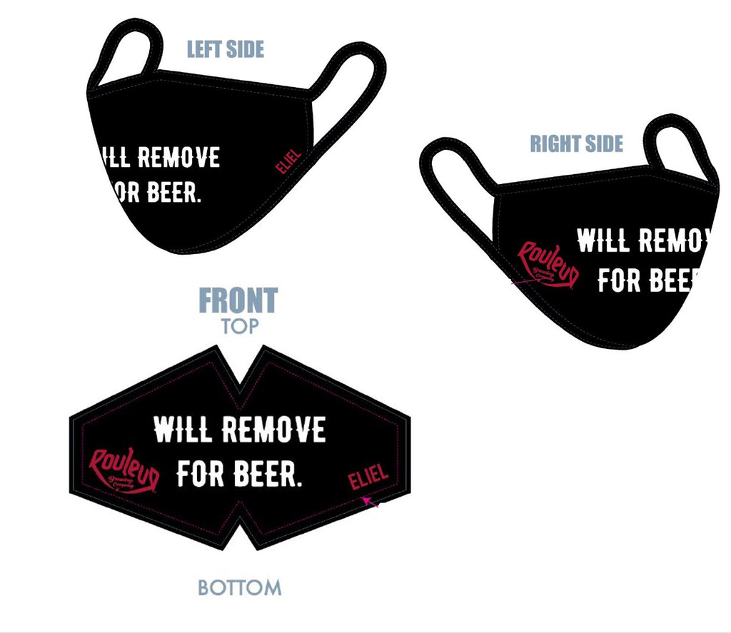 "Rouleur ""Will Remove for Beer"" Face Mask"