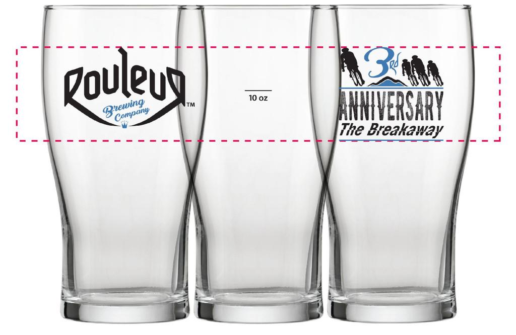 Rouleur Three-Year Anniversary Glass