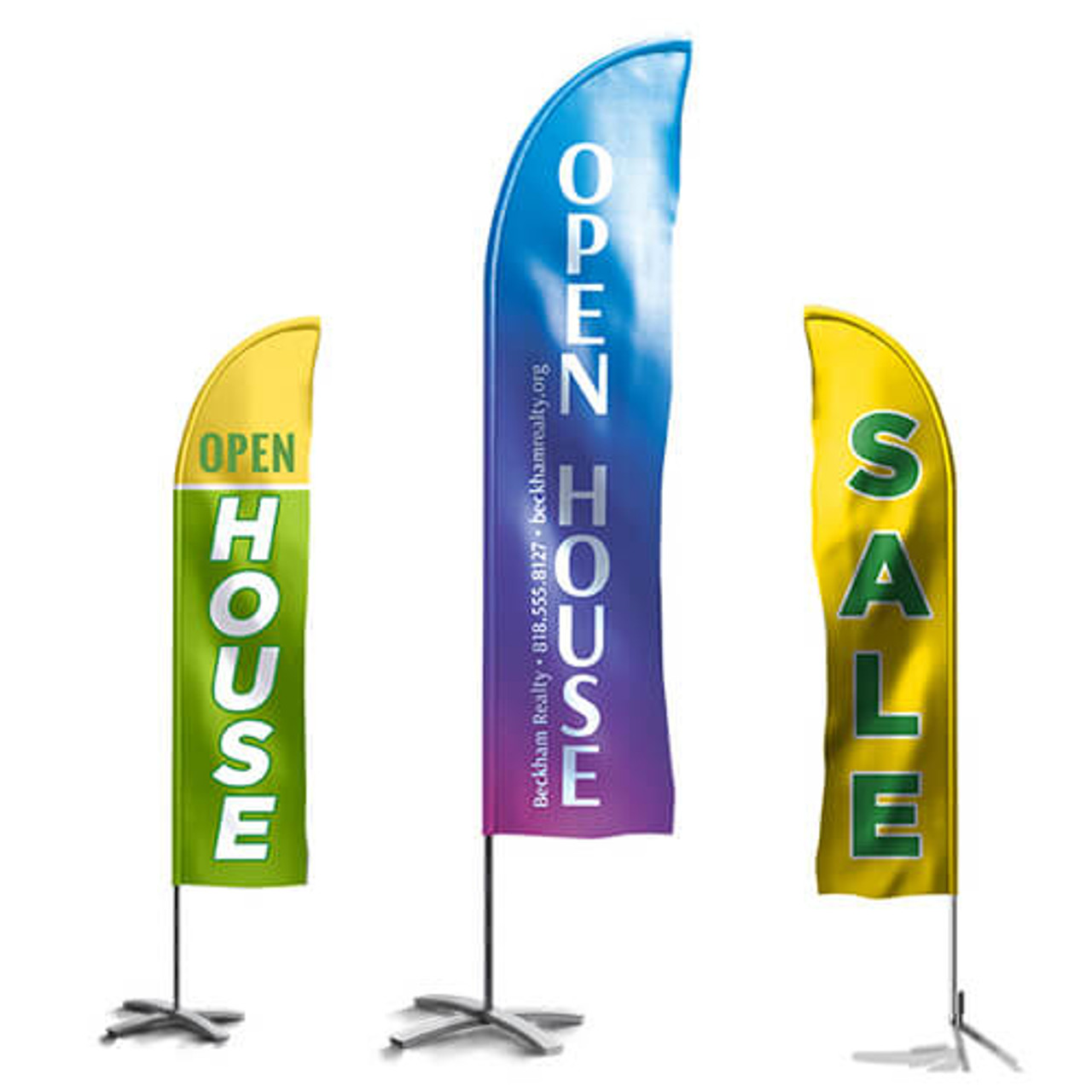Full Color Feather Flags   Feather Flag Printing   Custom Feather