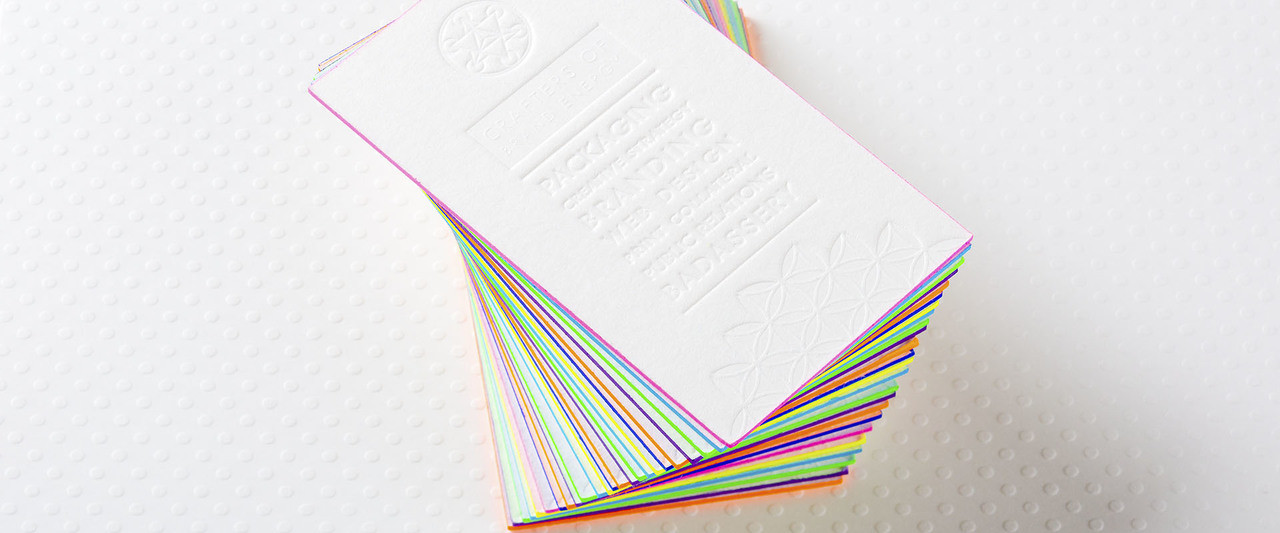 24pt Full Color Linen Painted Edge Cards Linen Painted Edge Card