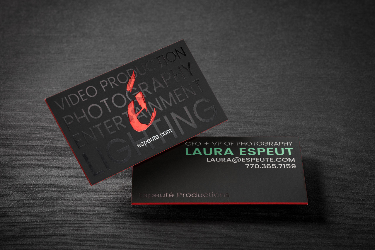6818bfc2 48pt Full Color Suede Painted Edge Business Cards | 48pt Suede ...