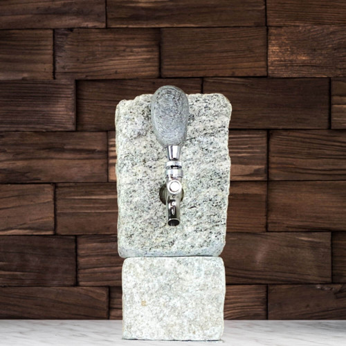 Stone Drink Dispenser with Stone Riser