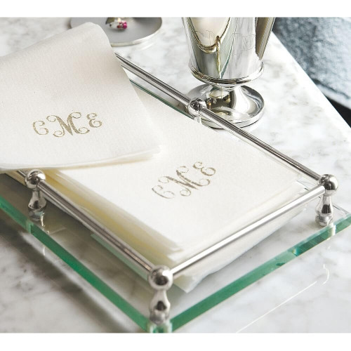 Linen-like disposable towels, personalized