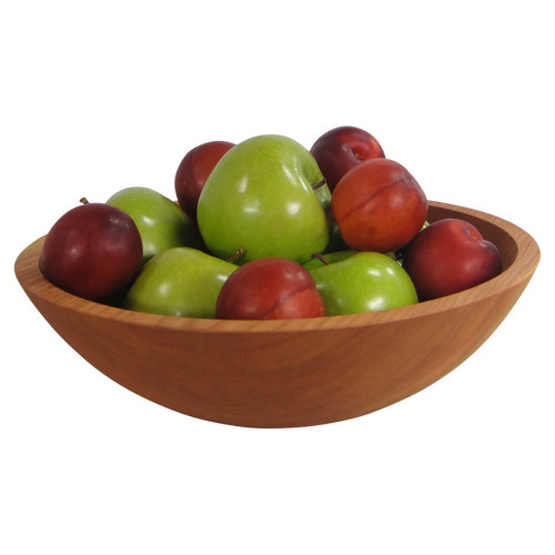 12 Inch Solid Cherry Wooden Bowl