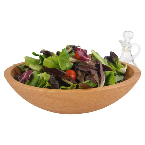 12 Inch Red Oak Wooden Salad Bowl