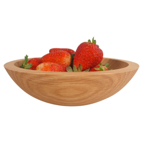 7 Inch Red Oak Wooden Serving Bowl