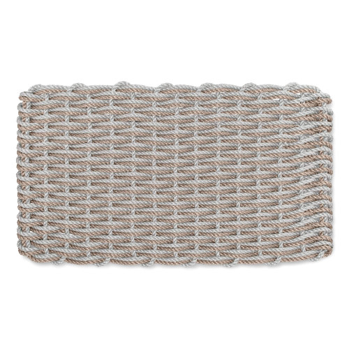 Lobster Rope Nautical Doormat, Cape Gray and Warm Sand