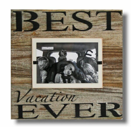 Reclaimed Wood Picture Frame, Best Vacation Ever
