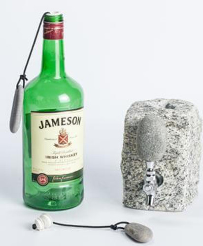 Stone Drink Dispenser Bottle Stopper Accessory