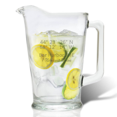 Longitude & Latitude Pitcher
