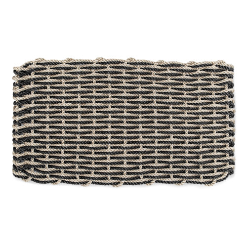 Nautical Rope Doormat, Warm Sand & Charcoal