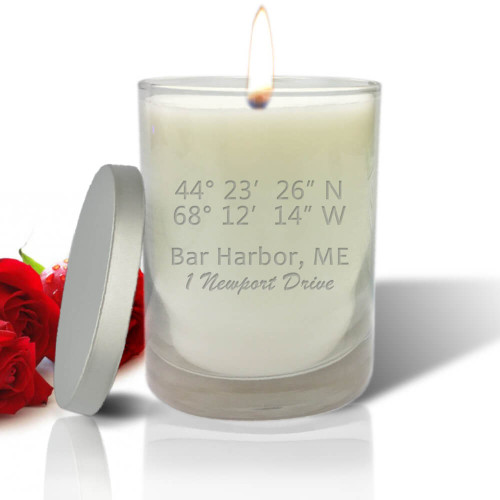 Longitude & Latitude Candle, Glass Jar, Soy