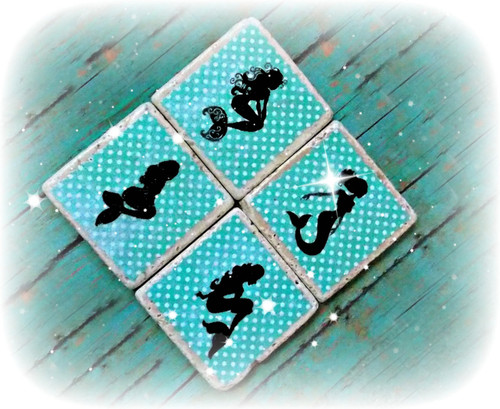 Mermaid Coasters, Set of 4