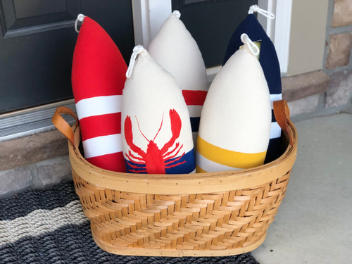 Maine Nautical Buoy Pillows