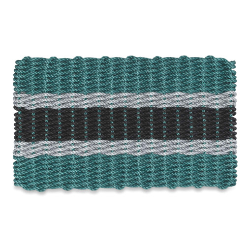 Lobster Rope Doormat, Green, Silver, Black