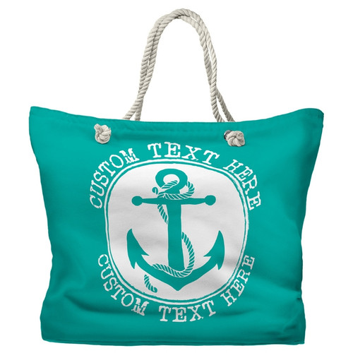 Personalized Boat or Beach Bag, Nautical Tote, 20 Colors