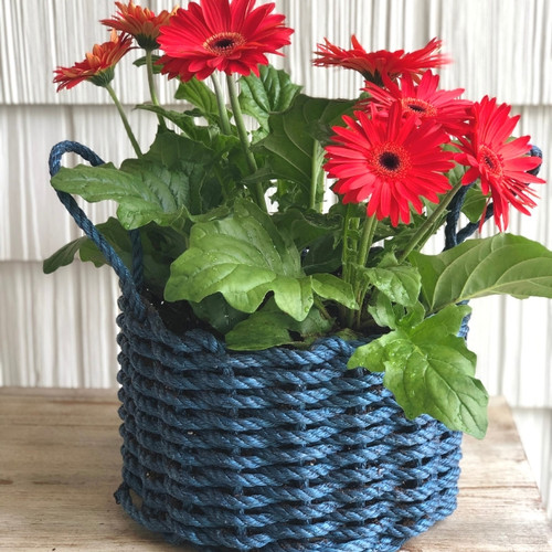 Lobster Rope Basket, Nautical Rope, Navy Blue