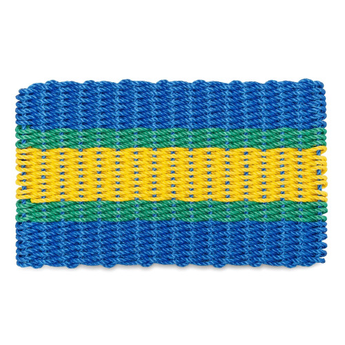Wicked Good Lobster Rope Doormat, Blue, Green, Yellow