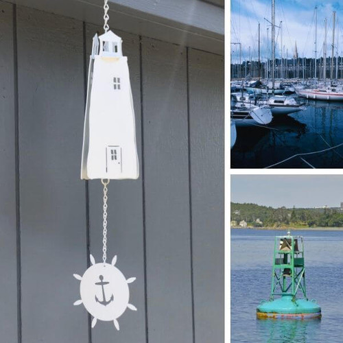Lighthouse Bell with Anchor Windcatcher, Buoy Bells, Halyard Sounds