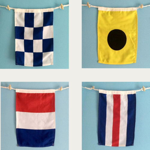 Nautical Flags, Maritime Signal Flags, A to Z and 0 to 9