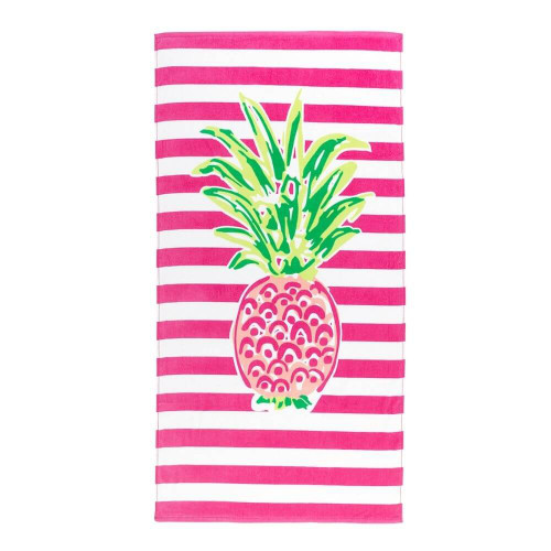 Personalized Beach Towel, Pineapple Paradise