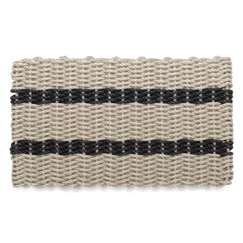 Wicked Good Nautical Rope Doormat, Tan and Black