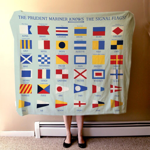 Nautical Signal Flag Fleece Blanket