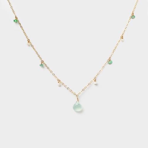 Pearl & Chalcedony Positive Energy Necklace
