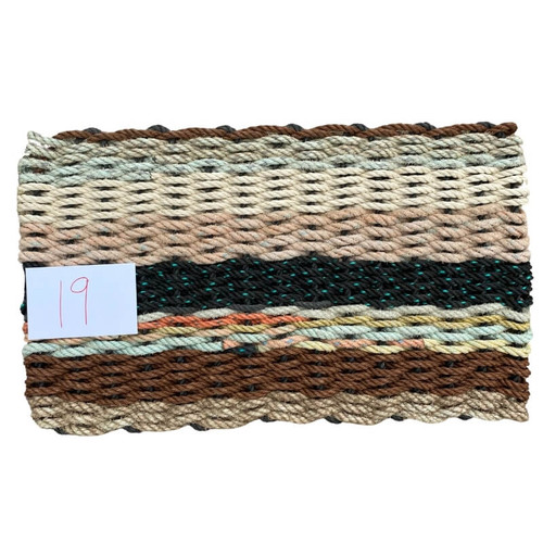 Recycled Lobster Rope Doormat Example