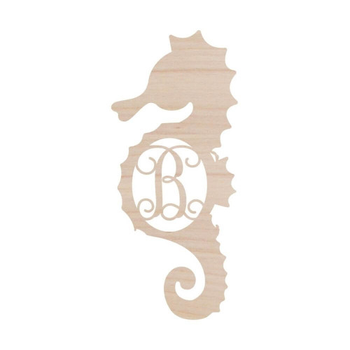 Personalized Wood Sign, Seahorse