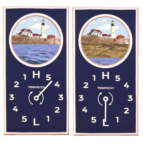 Portland Head Light Tide Clock, Navy
