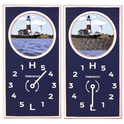 Montauk Point Light Tide Clock with Moving Tide