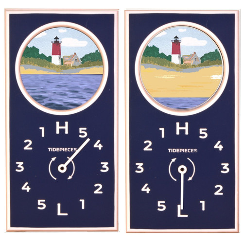 Nauset Light, Cape Cod Tide Clock with Moving Tide