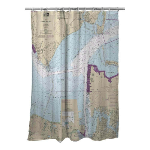 Nautical Chart Shower Curtain - over 200 locations