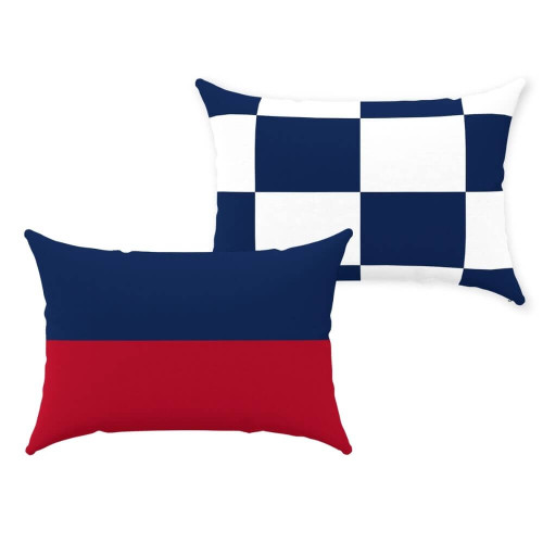 Nautical Signal Flag Pillows, Coastal Decor Pillows