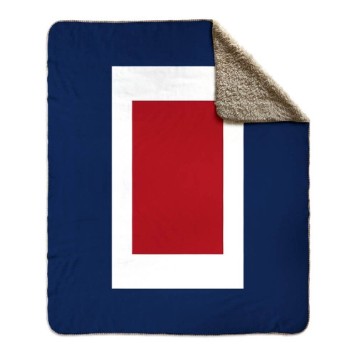Nautical Signal Flag Fleece Sherpa Blanket