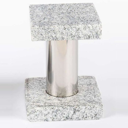 Stainless Steel + Granite Riser Stand