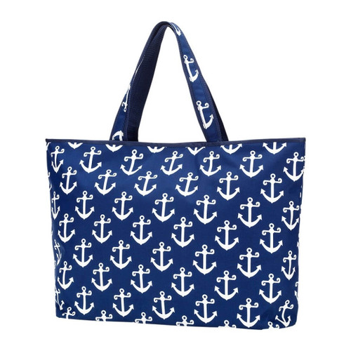 Large Weekender Cotton Tote,  Anchors
