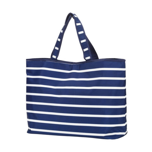 Large Weekender Cotton Tote,  Stripes