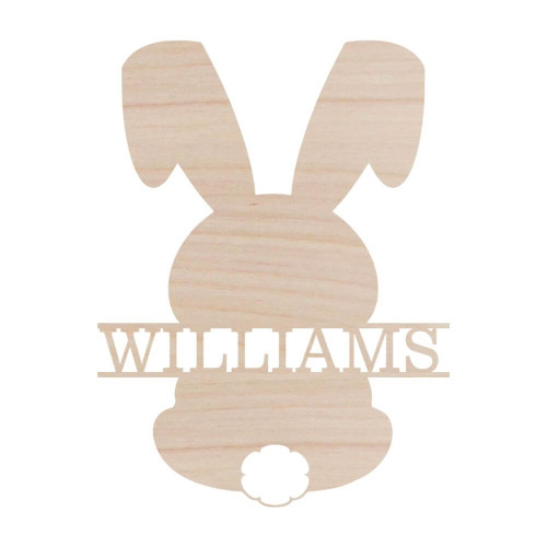 Personalized Wood Sign, Easter Bunny