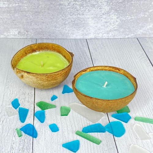 Floating Coconut Shell Candles