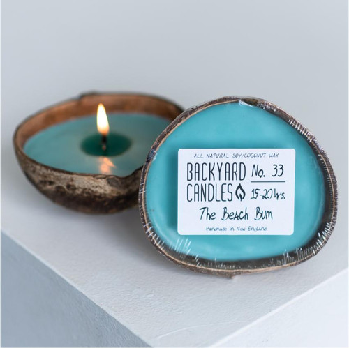 Floating Coconut Shell Candles, Beach Bum