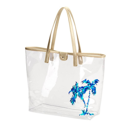 Clear Nautical Beach Bags, Totes, Palm Trees