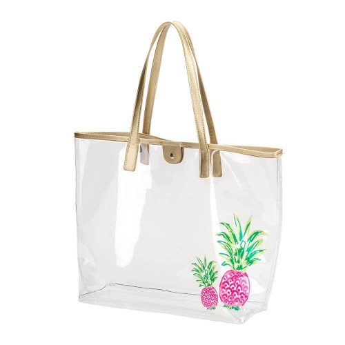 Clear Nautical Beach Bags, Totes, Pineapple