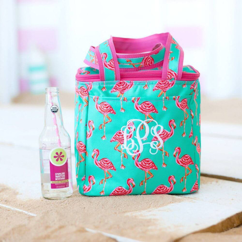 Personalized Cooler Tote, Tickled Pink Flamingo