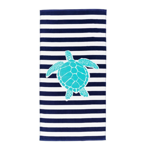 Personalized Beach Towel, Myrtle Turtle