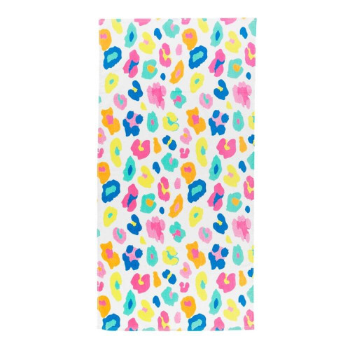 Personalized Beach Towel, Leopard